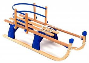 Детские складные деревянные санки со съемной спинкой Small Rider Fold Compact