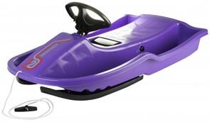 Снегокат-санки Stiga Snowpower Steering Sledge Purple Black фиолетовый