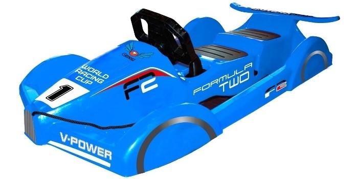 Пластиковые санки Gimpel формула синие - фото 5127