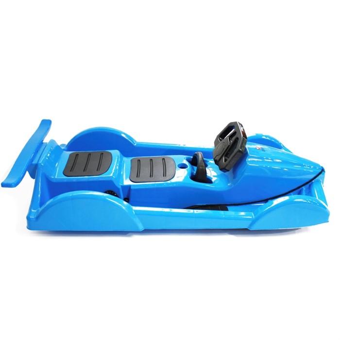 Пластиковые санки Gimpel формула синие - фото 5129