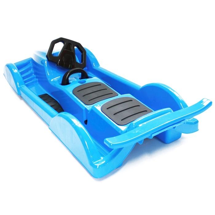 Пластиковые санки Gimpel формула синие - фото 5132