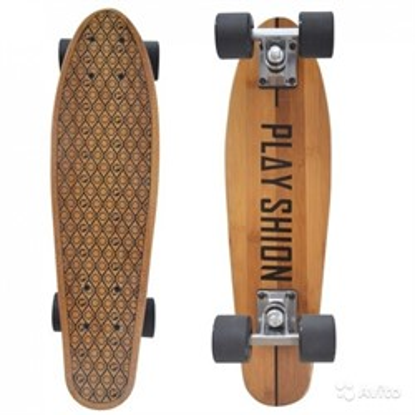 Скейтборд бамбуковый Playshion - фото 5609