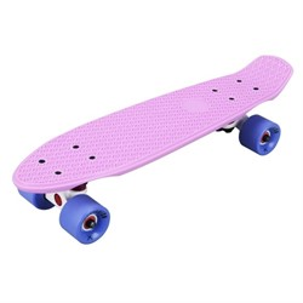 """Скейтборд пластиковый Playshion 22"""" фиолетовый - фото 5623"""