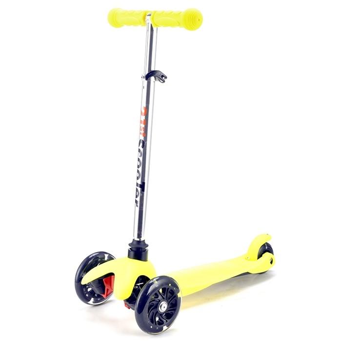 Трехколесный самокат для детей желтый 21st Scooter Mini SKL-06AH - фото 6309