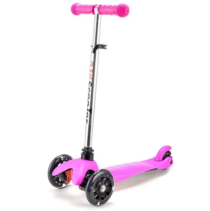 Трехколесный самокат для детей розовый 21st Scooter Mini SKL-06AH - фото 6323