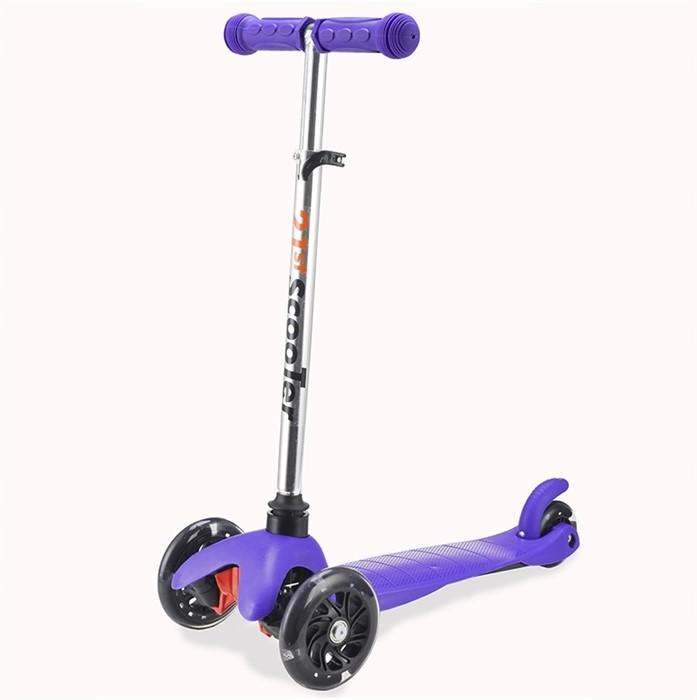 Трехколесный самокат для детей фиолетовый 21st Scooter Mini SKL-06AH - фото 6373