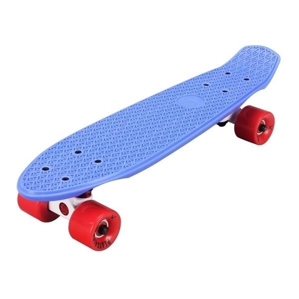 """Скейтборд пластиковый Playshion 22"""" синий - фото 6500"""