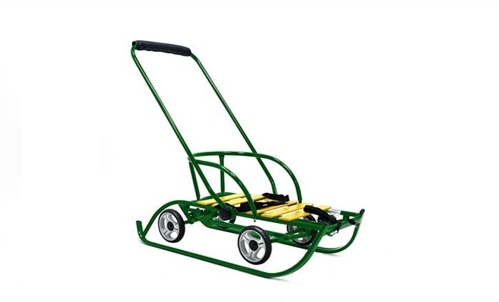 СаниМобиль Премиум (на больших колесах) зеленый - фото 6759