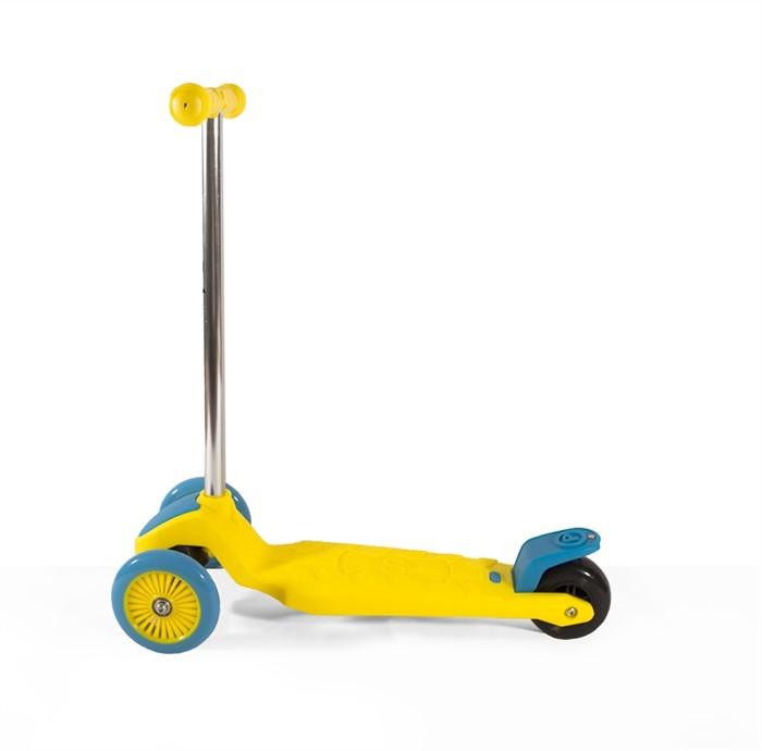 Самокат детский трехколесный ecoBalance жёлто-голубой - фото 6764