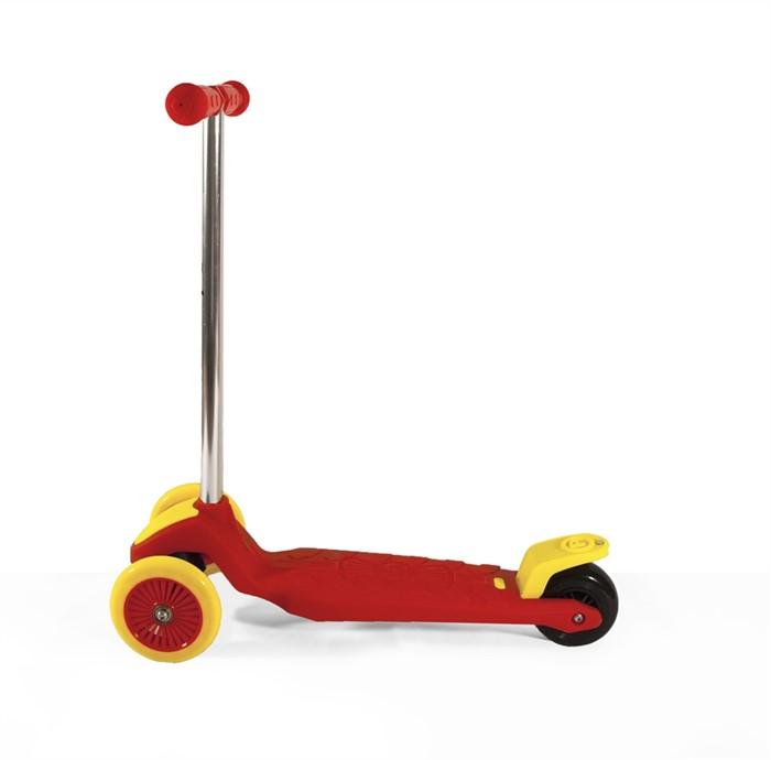 Самокат детский трехколесный, красно-желтый - фото 6777