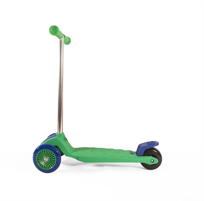 Самокат детский трехколесный ecoBalance зелено-фиолетовый - фото 6779