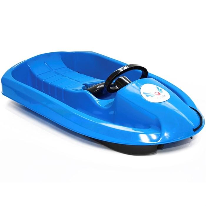 Пластиковые санки Gimpel синие - фото 6909