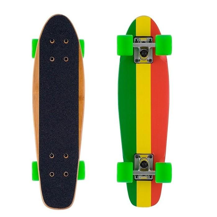 Скейтборд Shark бамбуковый черный - фото 7162