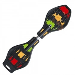 Скейт Dragon Board multicolor rasta - фото 7340