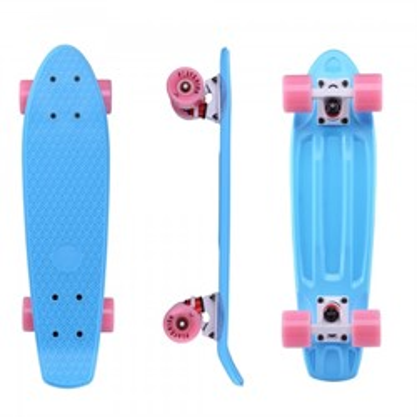 "Скейтборд пластиковый Playshion 22"" голубой - фото 7558"