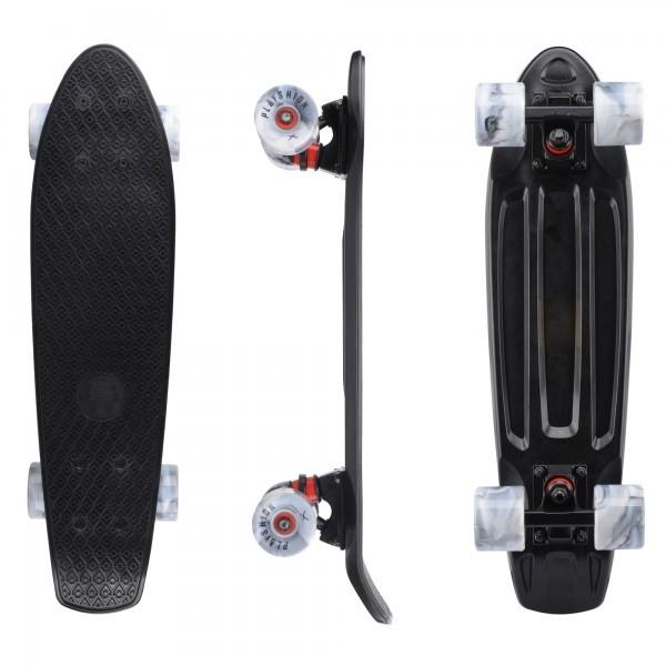 """Скейтборд пластиковый Playshion 22"""" черный - фото 7570"""