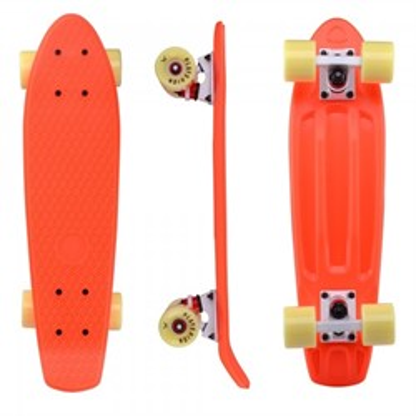 "Скейтборд пластиковый Playshion 22"" оранжевый - фото 7583"