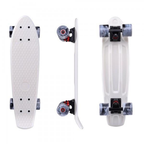 "Скейтборд пластиковый Playshion 22"" белый - фото 7594"