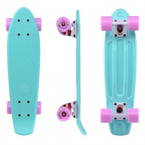 """Скейтборд пластиковый Playshion 22"""" бирюзовый - фото 7605"""