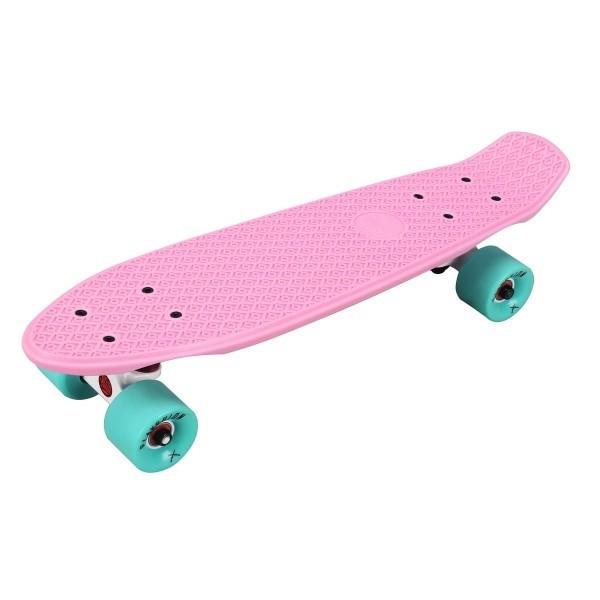 "Скейтборд пластиковый Playshion 22"" розовый - фото 7618"