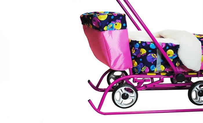 Багажник для санимобиля ПРЕМИУМ розовый (сиреневый) - фото 7868