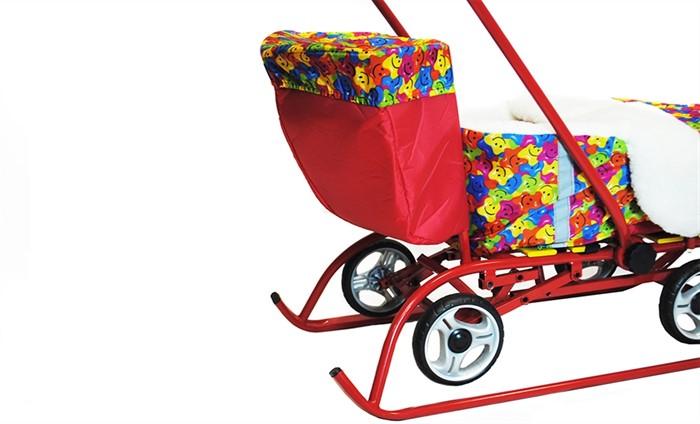Багажник для санимобиля ПРЕМИУМ красный - фото 7876