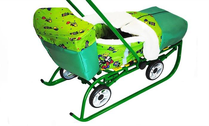Багажник для санимобиля ПРЕМИУМ зеленый - фото 7951