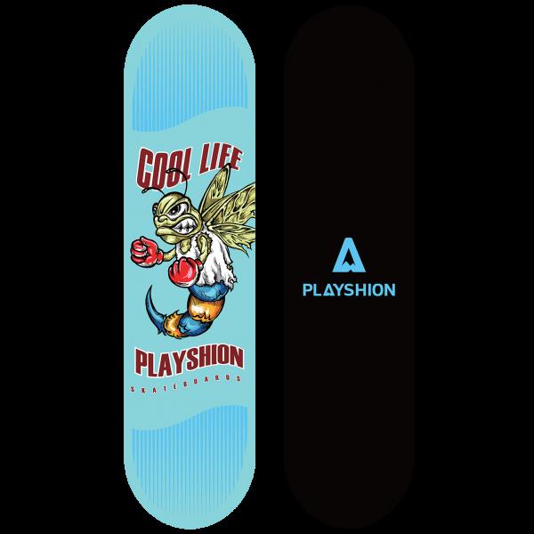 Скейтборд COOL LIFE голубой - фото 8046