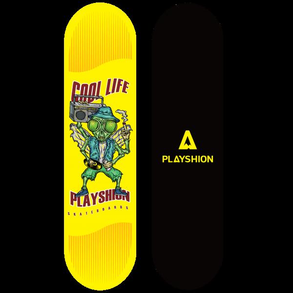 Скейтборд COOL LIFE желтый - фото 8062