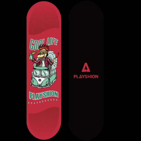 Скейтборд COOL LIFE красный - фото 8080