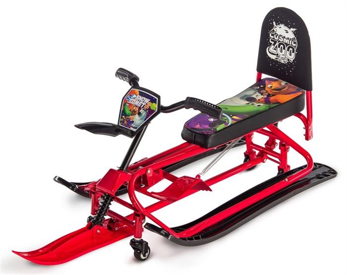 Детский снегокат-трансформер с колесиками и спинкой Small Rider Snow Comet 2 красный - фото 8587