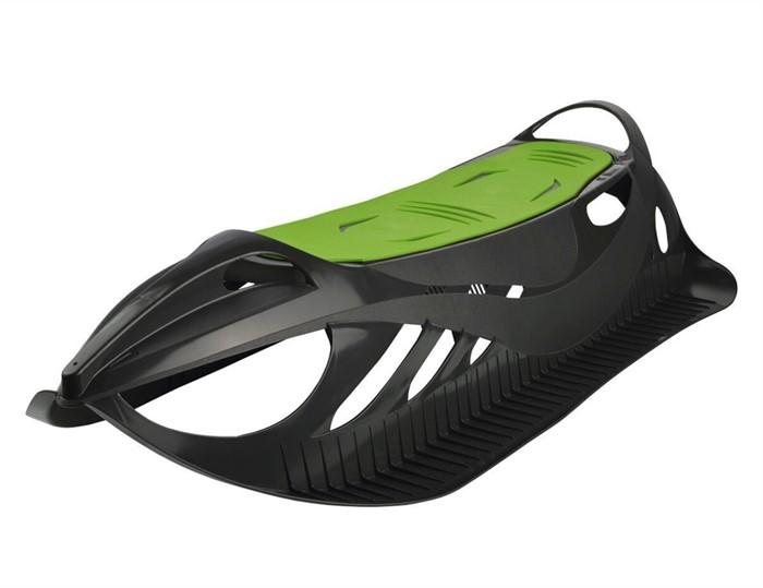 Детские пластиковые санки Gismo Riders Neon Grip черно-зеленый - фото 8607
