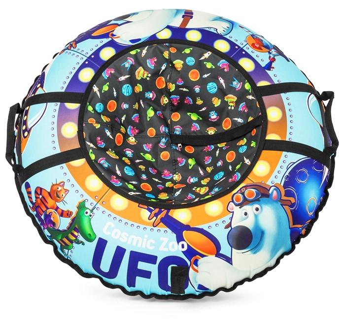 Надувные санки-ватрушка (тюбинг) Small Rider UFO (CZ) синий медвежонок - фото 8809