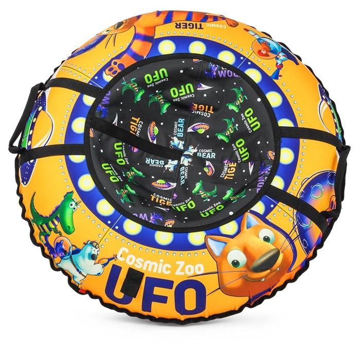 Надувные санки-ватрушка (тюбинг) Small Rider UFO (CZ) оранжевый тигренок - фото 8811