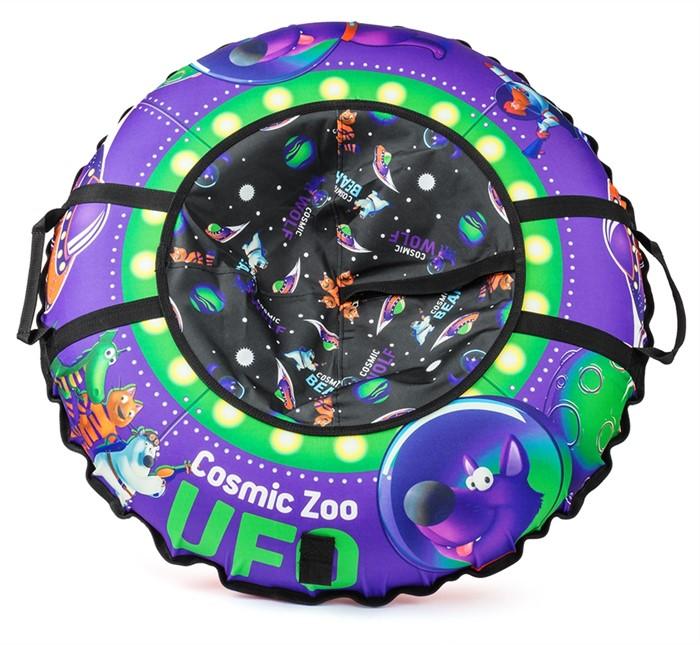 Надувные санки-ватрушка (тюбинг) Small Rider UFO (CZ) фиолетовый волк - фото 8813