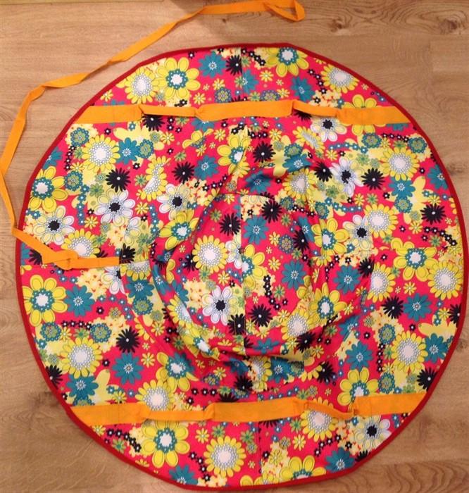 Тюбинг санки-ватрушки 100 см Гламур Макси цветочки - фото 8833