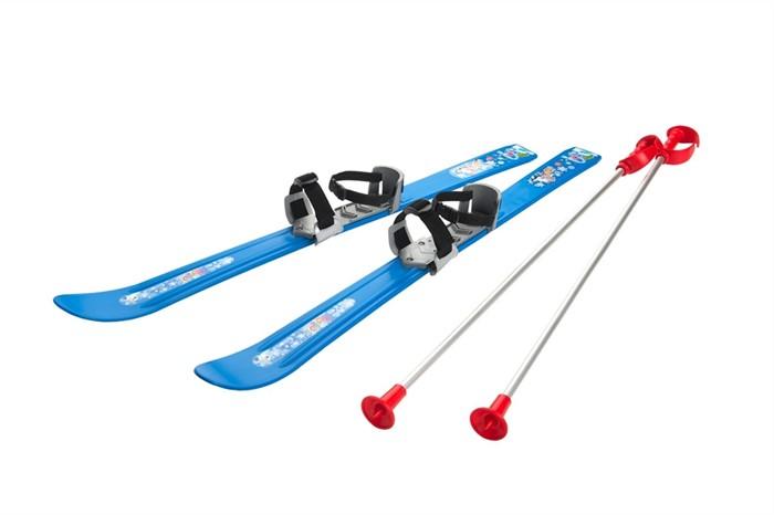 Детские лыжи с палками и креплениями Gismo Riders Baby Ski, 90 см (Чехия) синий - фото 8844