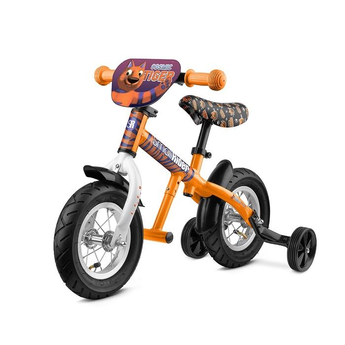 Легкий алюминиевый беговел с колесиками и подножкой Small Rider Ballance 2 оранжевый - фото 8939