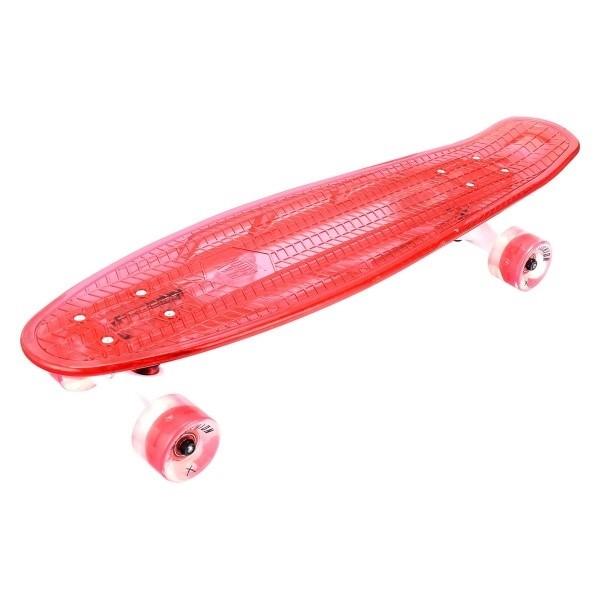 """Скейтборд 27"""" с подсветкой и светящимися колесами Playshion FS-LS002 красный - фото 8965"""