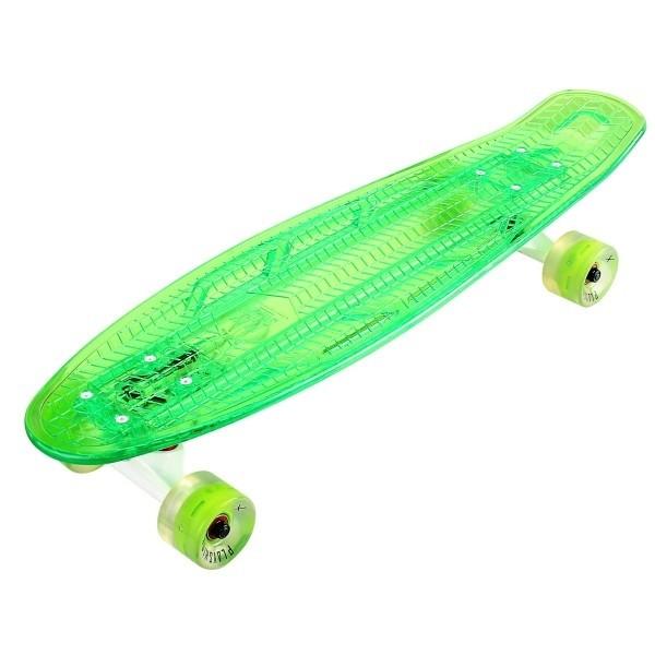 "Скейтборд 27"" с подсветкой и светящимися колесами Playshion FS-LS002 зеленый - фото 8978"