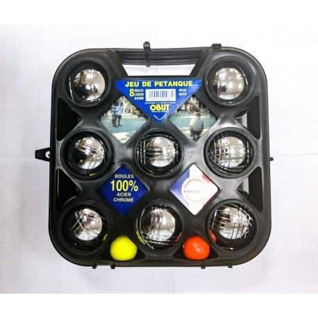 Петанк стальной игра Боча, набор из 8 шаров - фото 9119