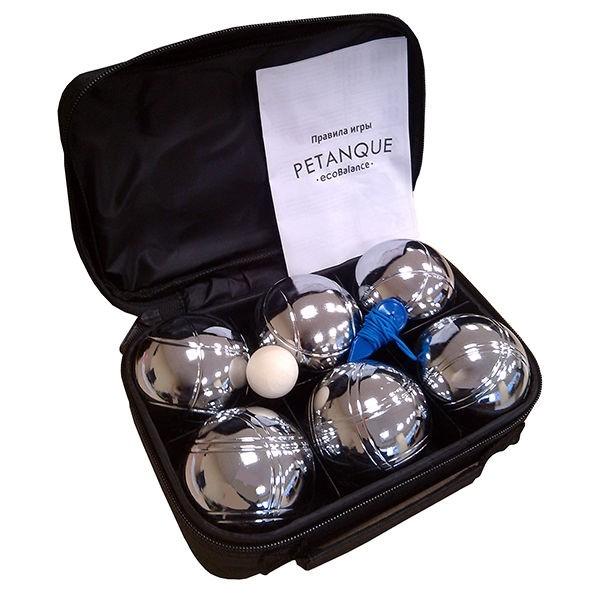 Набор для игры в петанк, 6 шаров стальной - фото 9159