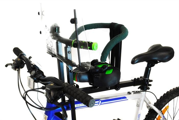 Велокресло детское для любых моделей велосипедов до 35 кг зеленое - фото 9219