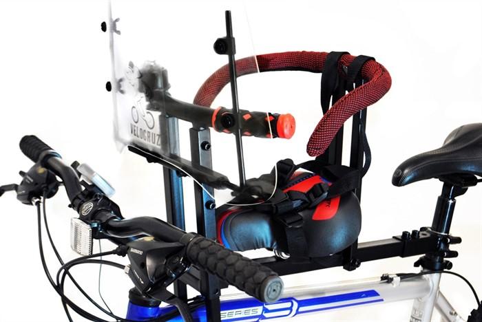 Велокресло детское для любых моделей велосипедов до 35 кг красное - фото 9220