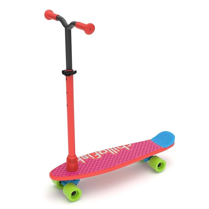 Детский скейтборд-самокат 2 в 1 Chillaifish Skatie Skootie Бельгия красный - фото 9334