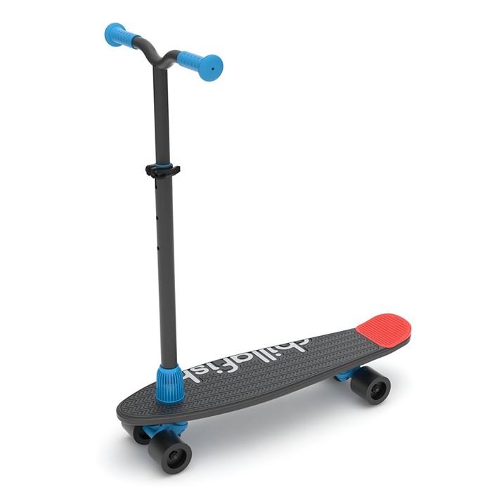 Детский скейтборд-самокат 2 в 1 Chillaifish Skatie Skootie Бельгия черный - фото 9337