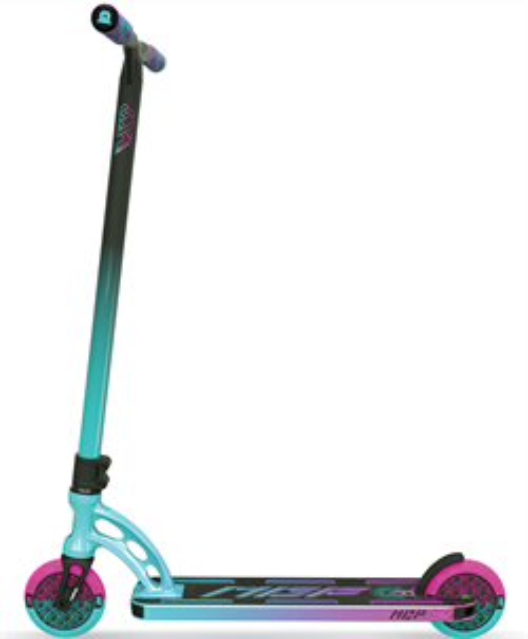 Трюковый самокат MGP Madd Gear VX9 TEAM SCOOTER 4.8 x 20 Inch hydrazine, бирюзово-розовый - фото 9347