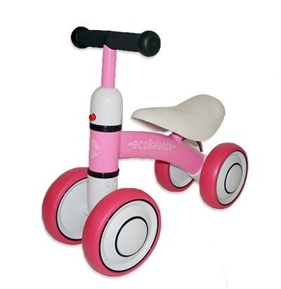 Беговел каталка ecoBalance Baby розовый - фото 9370