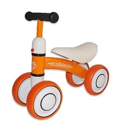 Беговел каталка ecoBalance Baby оранжевый - фото 9372