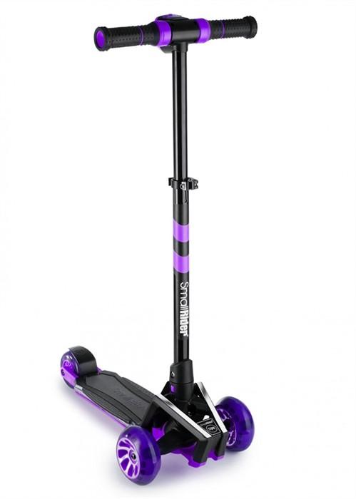 Самокат с ревом мотора, свет.колесами, свет.платформой Small Rider Premium Pro 2 фиолетовый - фото 9379